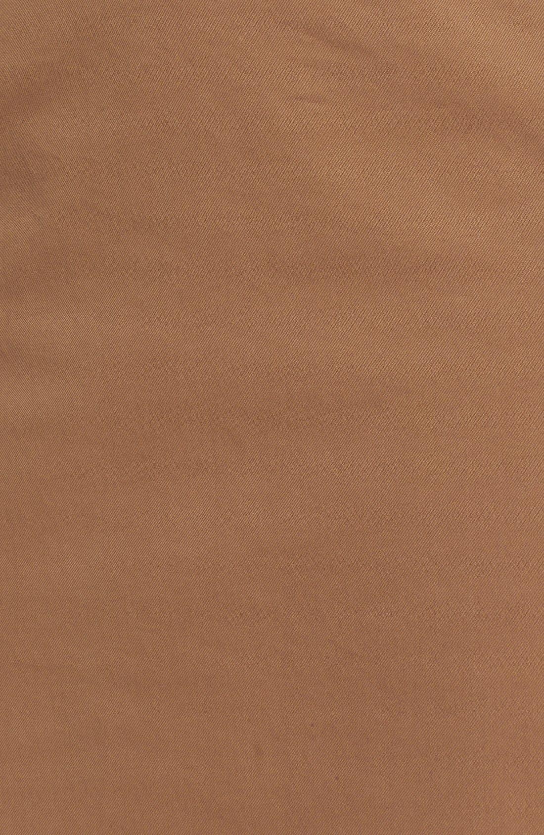 Alternate Image 5  - Nº21 'Lison' Frayed Hem Khaki Pencil Skirt