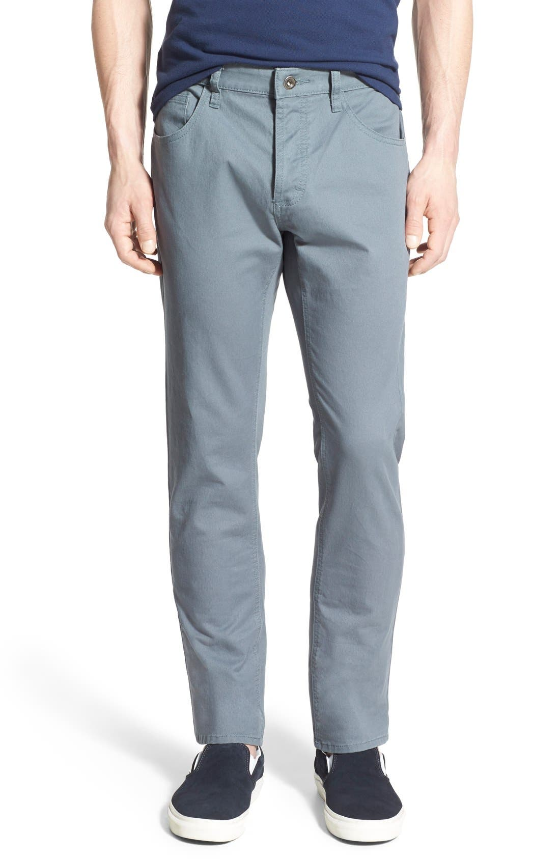 Alternate Image 1 Selected - RVCA 'Stay RVCA' Slim Straight Pants (Online Only)