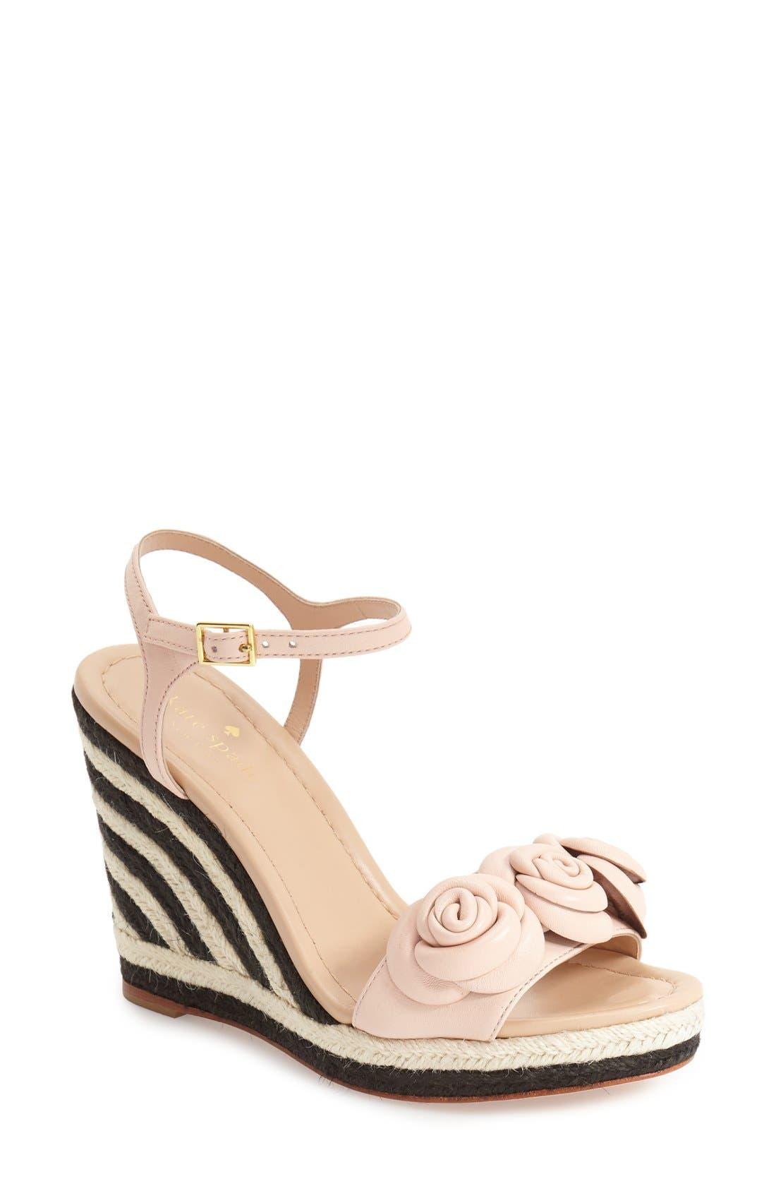 Alternate Image 1 Selected - kate spade new york 'jill' espadrille wedge sandal (Women)