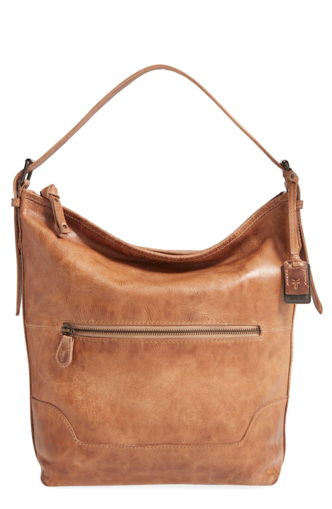 Alternate Image 1 Selected - Frye 'Melissa' Washed Leather Bucket Bag