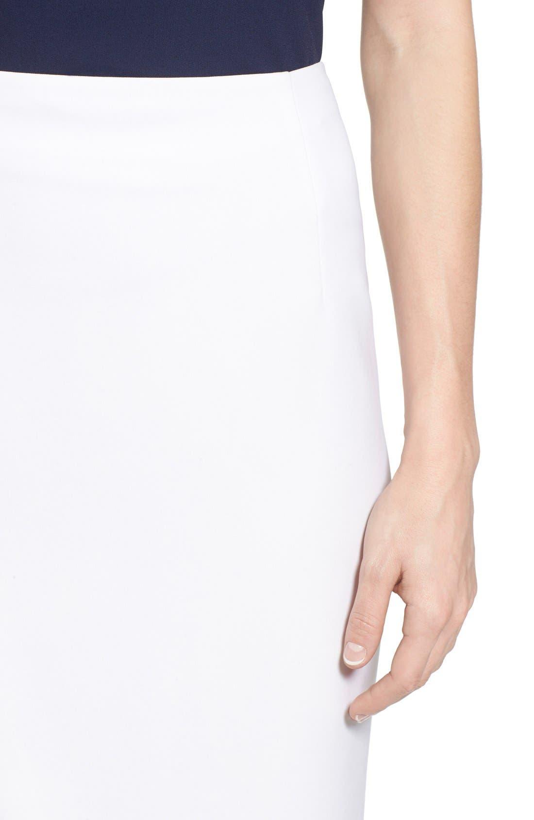 Alternate Image 4  - Ellen Tracy Asymmetrical Front Slit Pencil Skirt