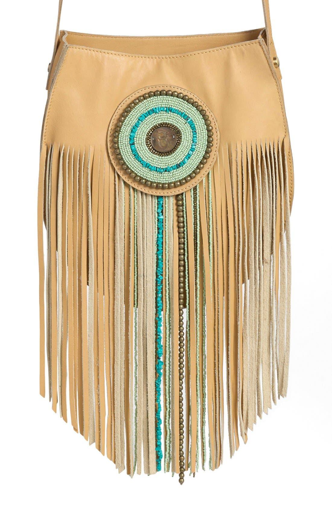 Main Image - Sam Edelman 'Karina' Fringe Leather Shoulder Bag