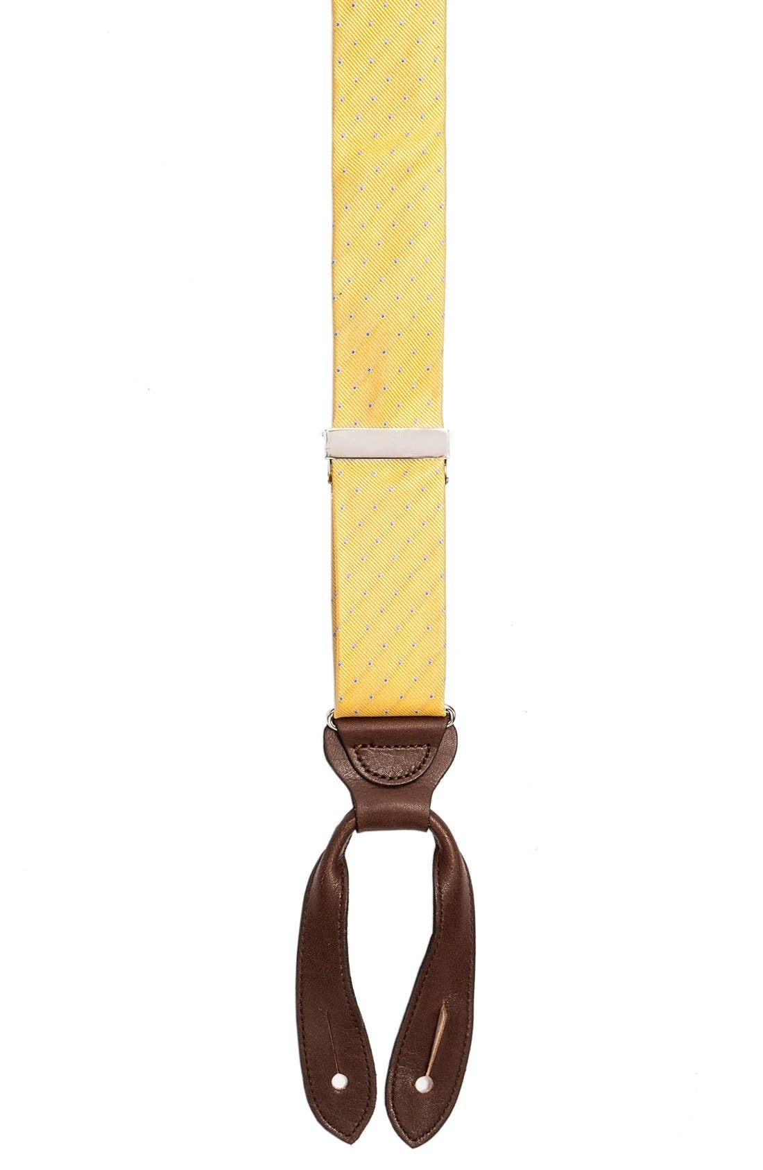 TRAFALGAR 'Dalton' Dot Silk Suspenders