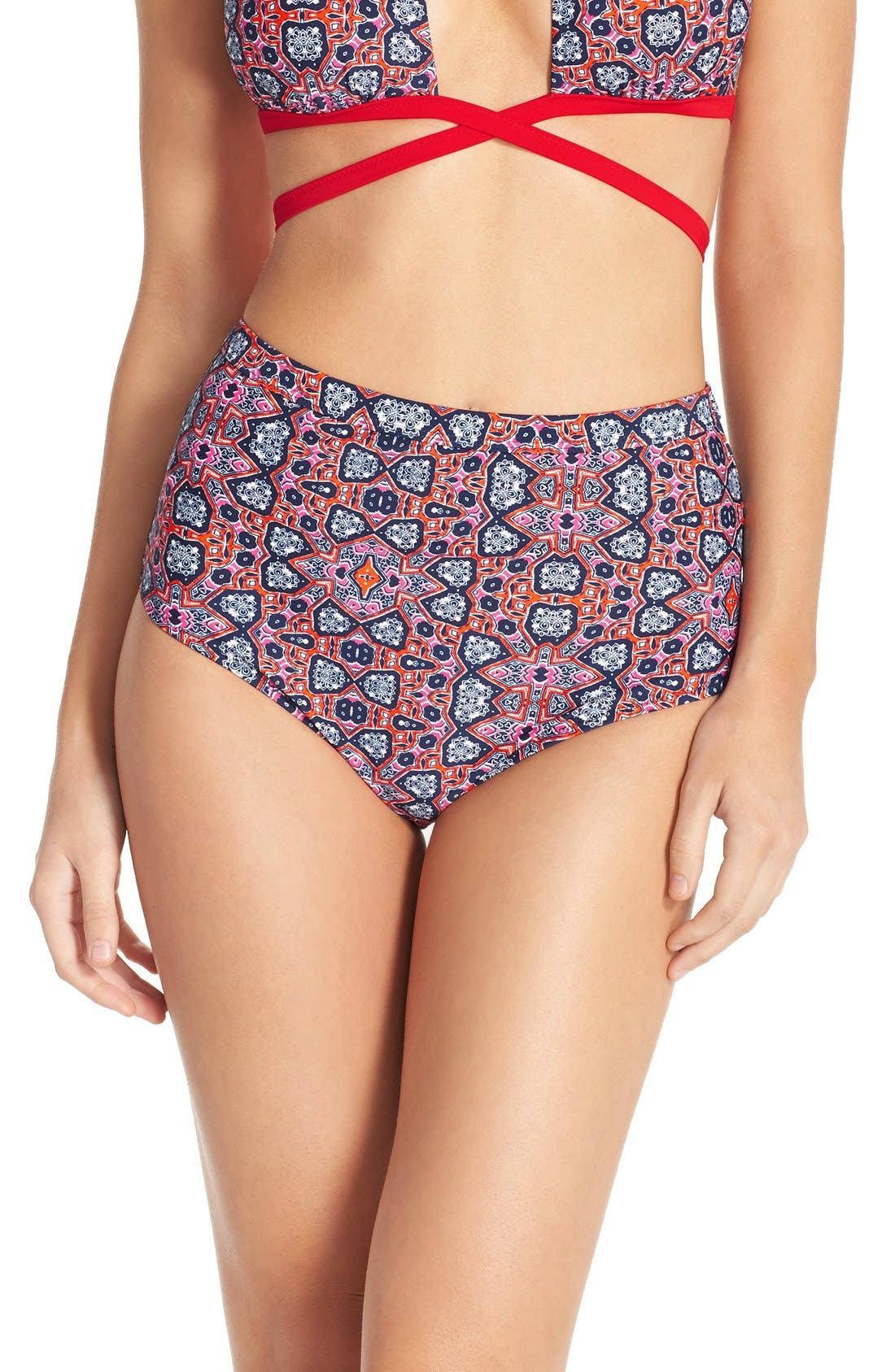 Alternate Image 1 Selected - MINKPINK 'Wild for the Night' High Waisted Bikini Bottoms