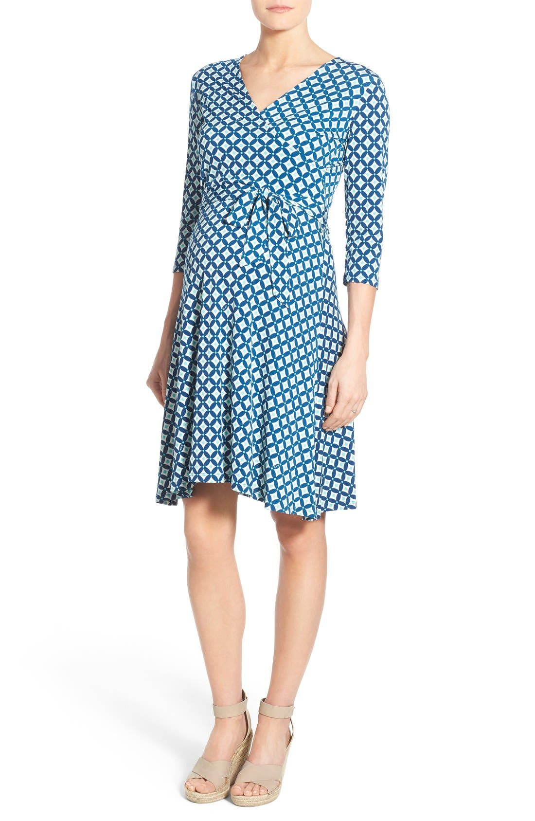 LEOTA Faux Wrap Maternity Dress