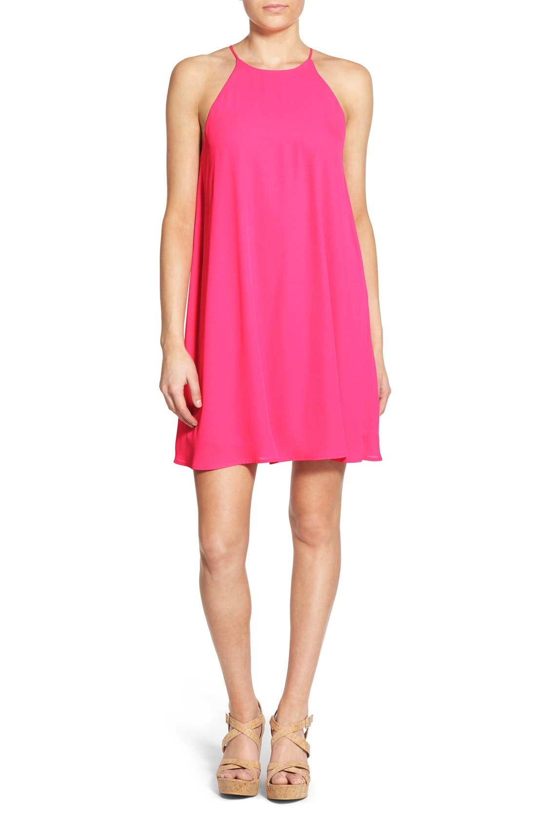 Alternate Image 1 Selected - Everly High Neck Trapeze Dress