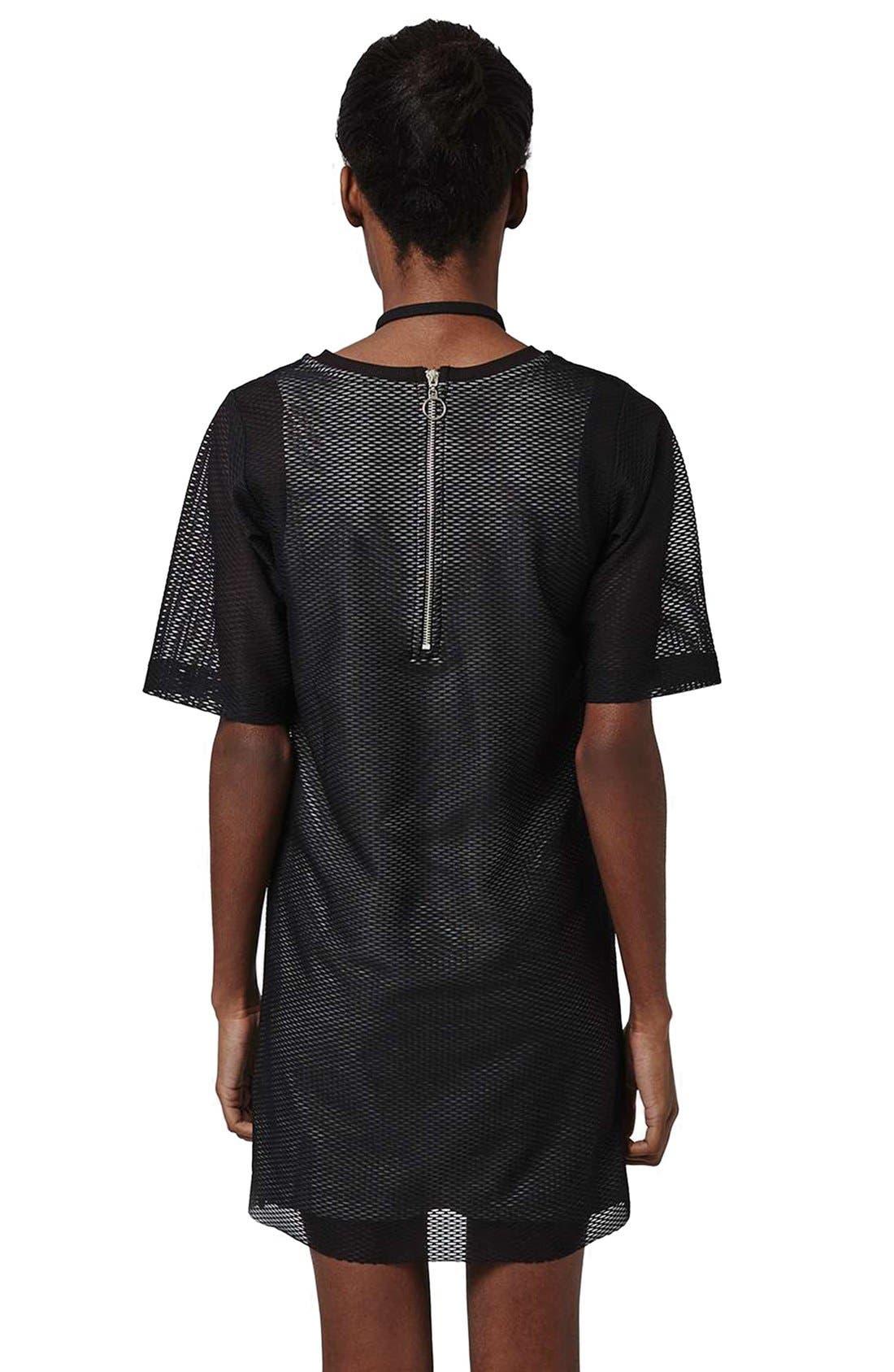 Alternate Image 2  - Topshop V-Neck Mesh T-Shirt Dress
