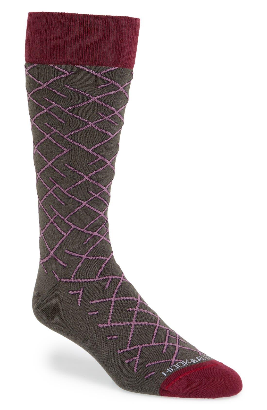 hook + ALBERT 'Diagonal Line' Socks | Nordstrom