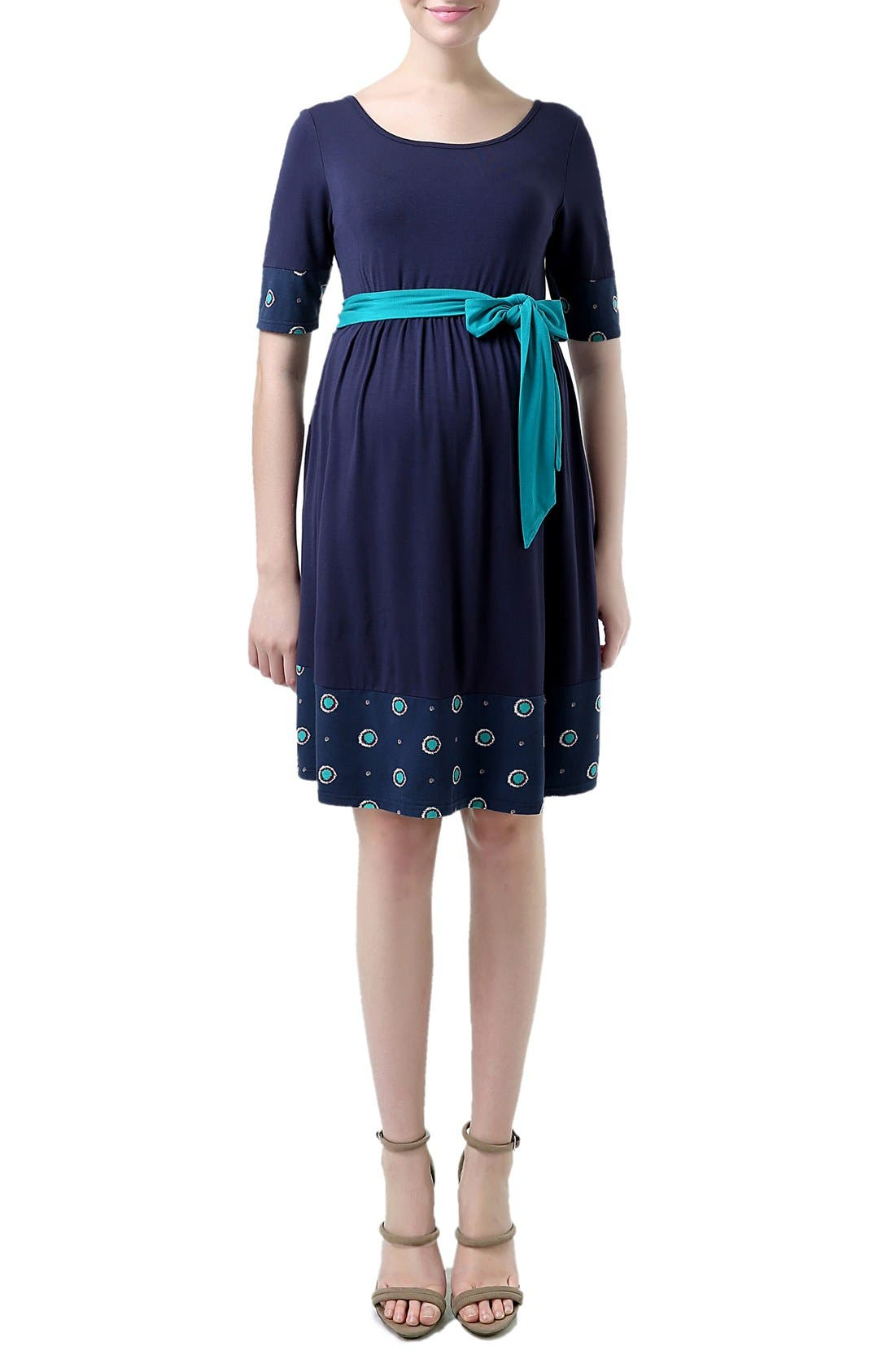 KIMI AND KAI 'Phee' Polka Dot Trim Maternity