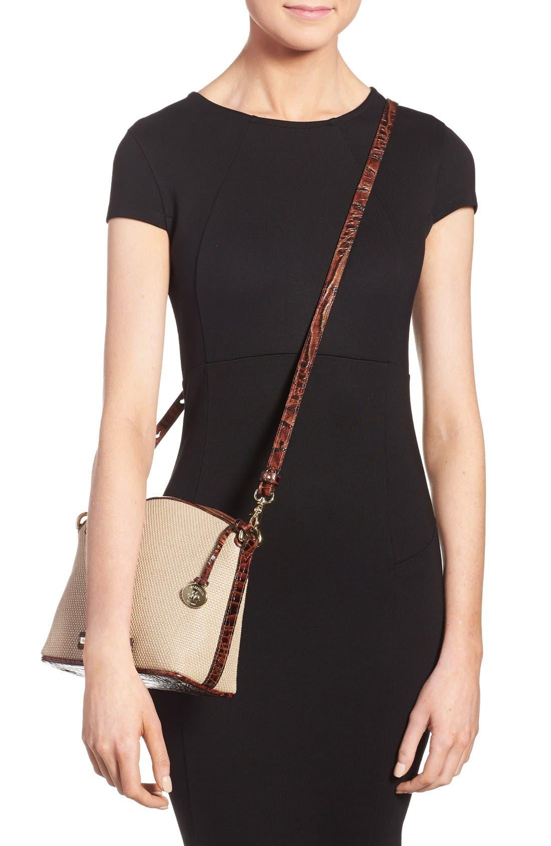 Alternate Image 2  - Brahmin 'Mini Duxbury' Woven Crossbody Bag