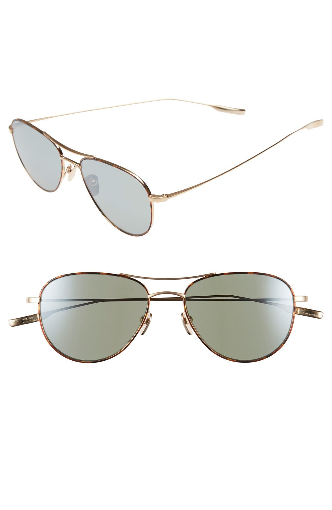 SALT 'Meadows' 54mm Polarized Aviator Sunglasses