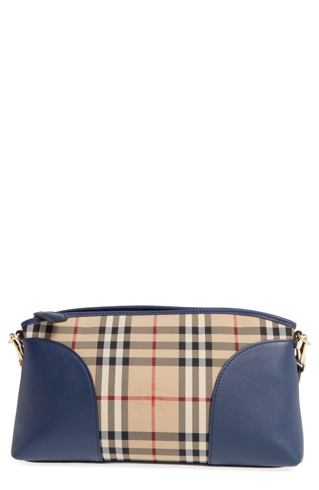 BURBERRY 'Horseferry Chichester' Leather & Nylon Crossbody Bag