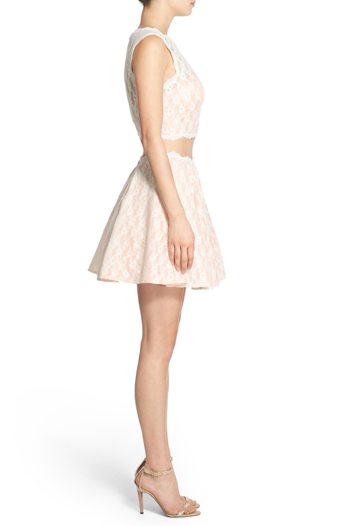 Alternate Image 3  - Way-In Lace Two-Piece Dress