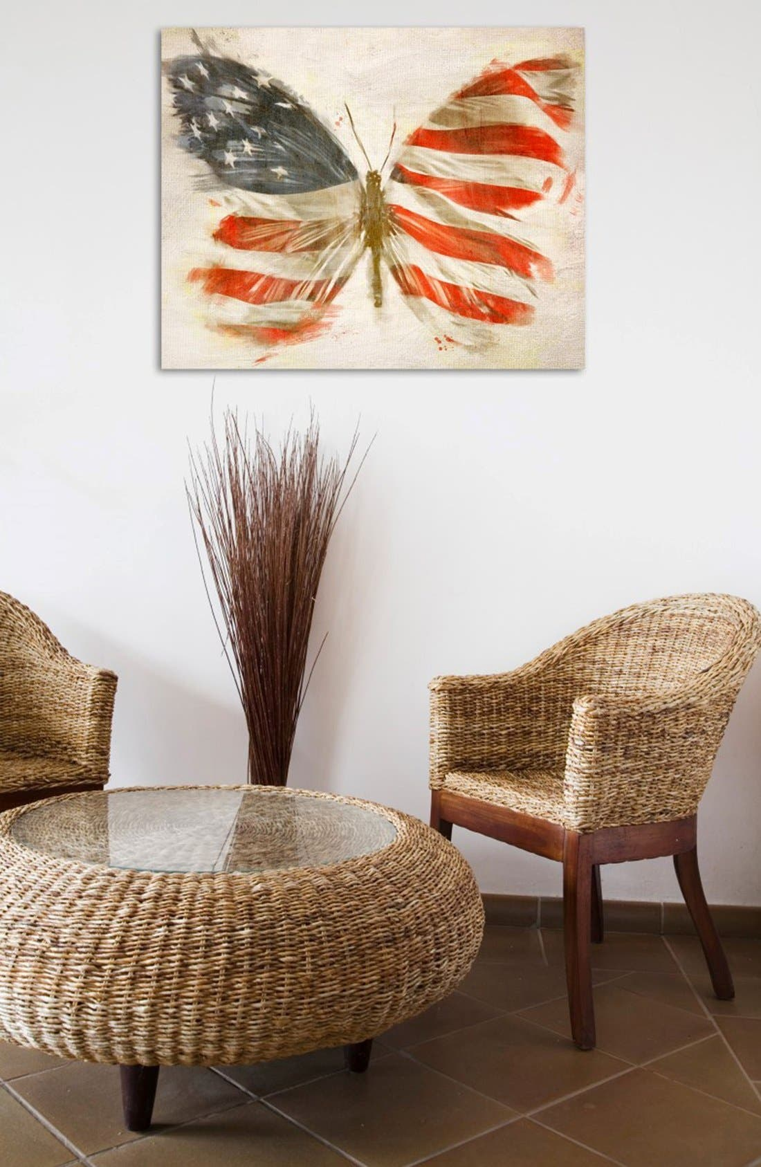 Alternate Image 2  - Oliver Gal 'American Butterfly' Canvas Art