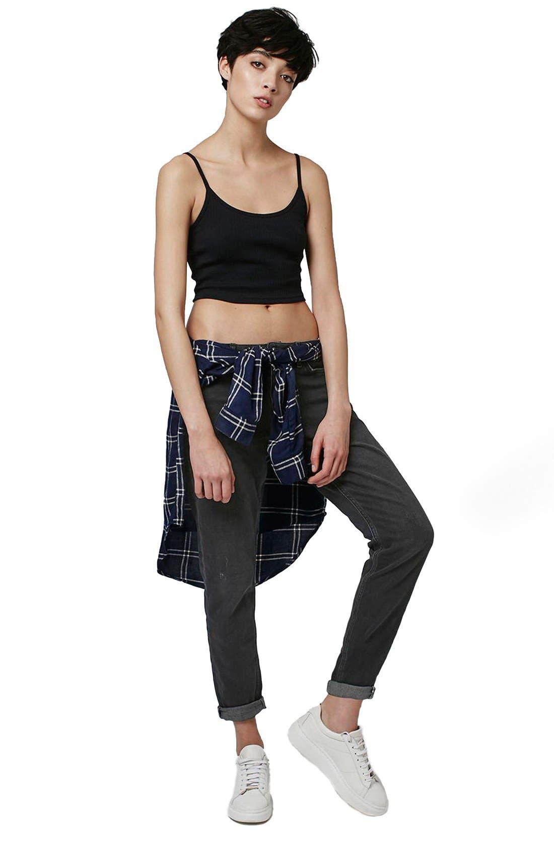 Alternate Image 2  - Topshop Moto 'Lucas' Slim Boyfriend Jeans