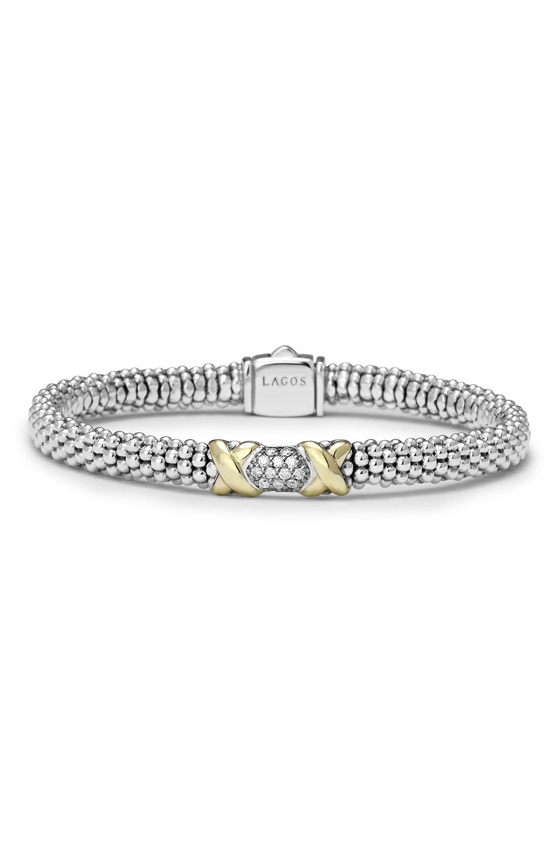 Alternate Image 1 Selected - LAGOS 'Diamond Lux' Diamond Rope Bracelet