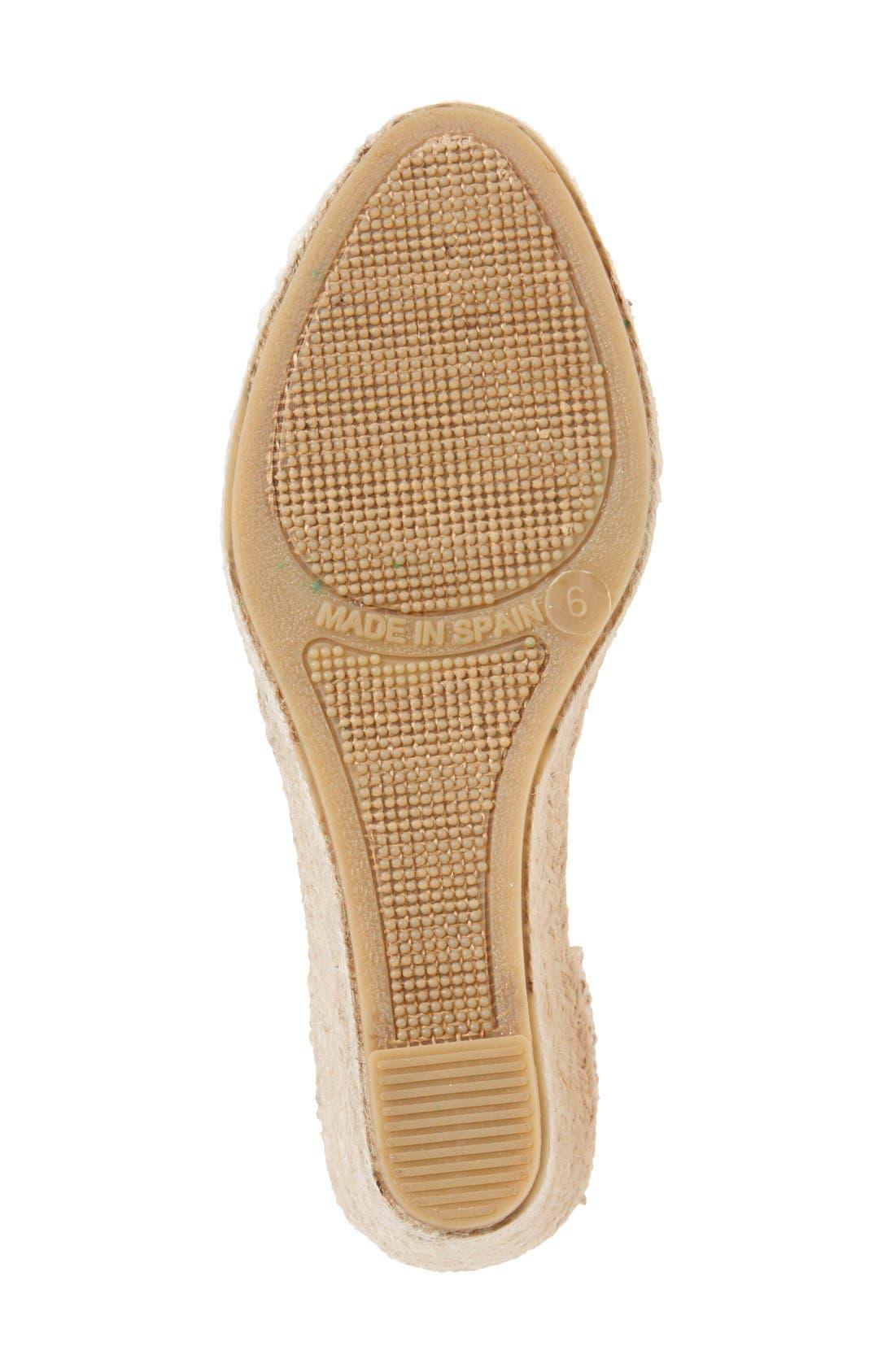 Alternate Image 4  - Soludos Lace Wedge Espadrille Sandal (Women)