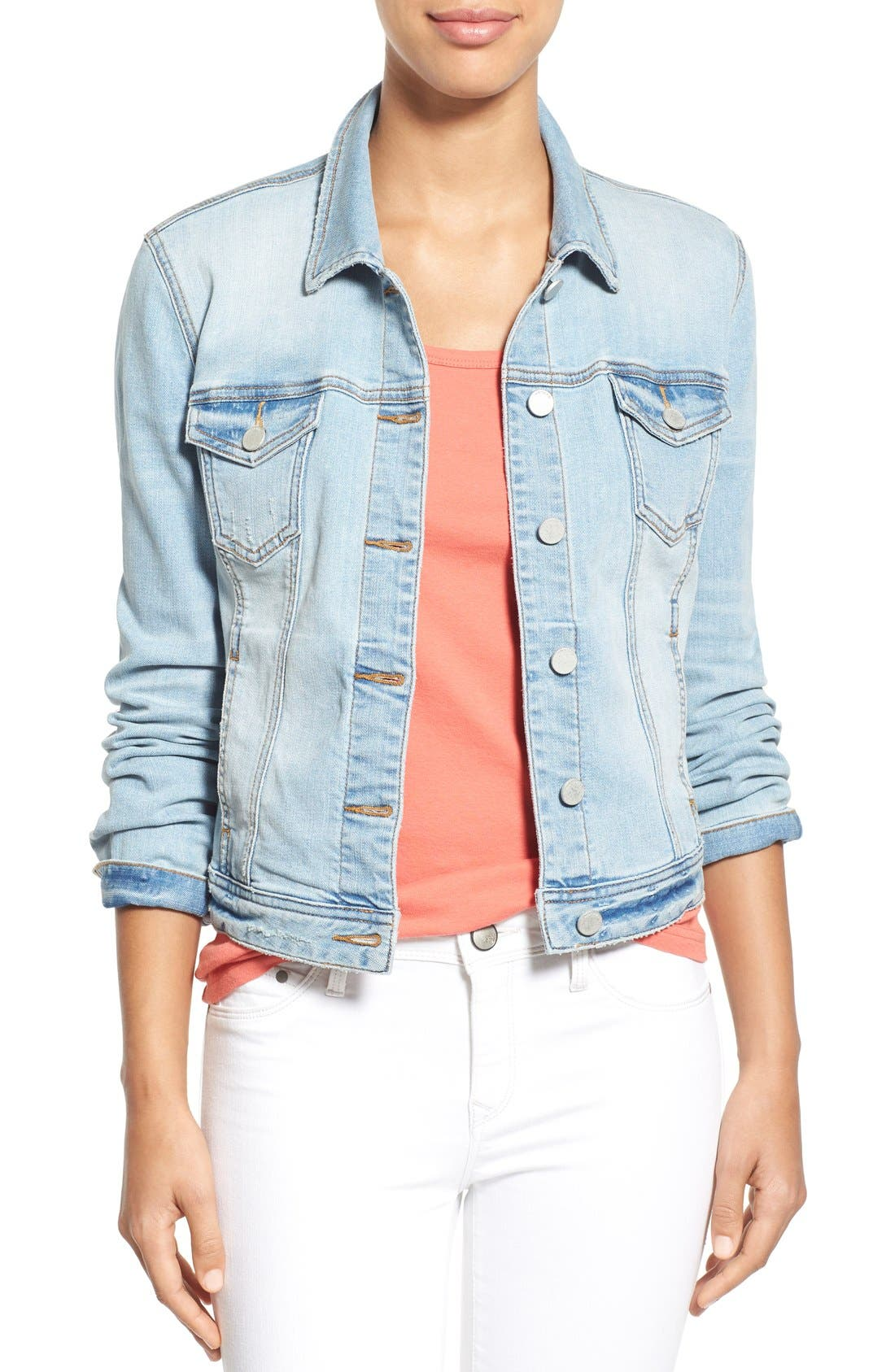 Alternate Image 1 Selected - Caslon® Denim Jacket (Regular & Petite)