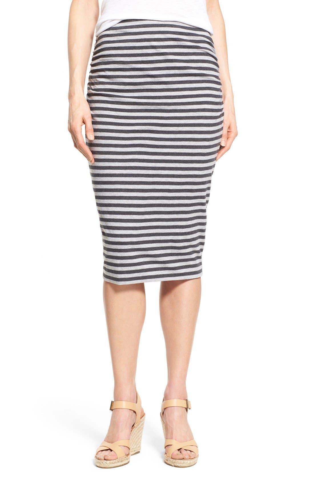 Alternate Image 1 Selected - Caslon® Side Ruched Tube Skirt