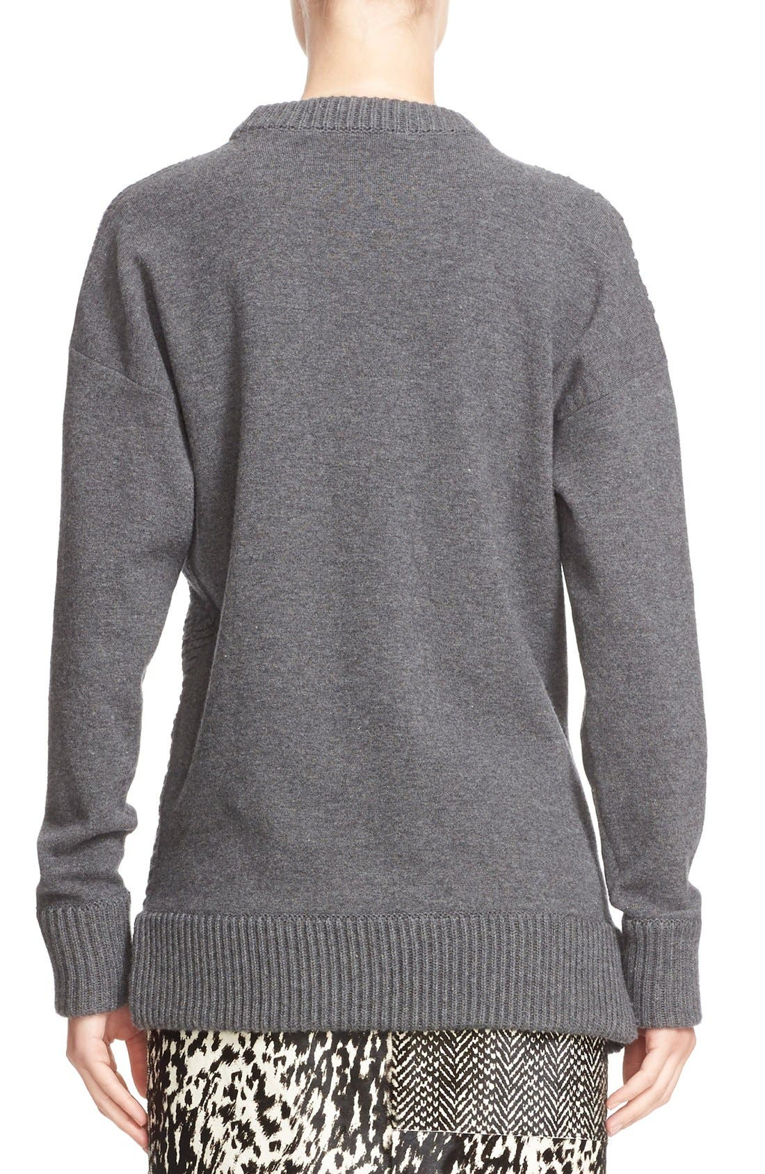 Alternate Image 2  - Jason Wu Cashmere & Wool Blend Textured Sweater