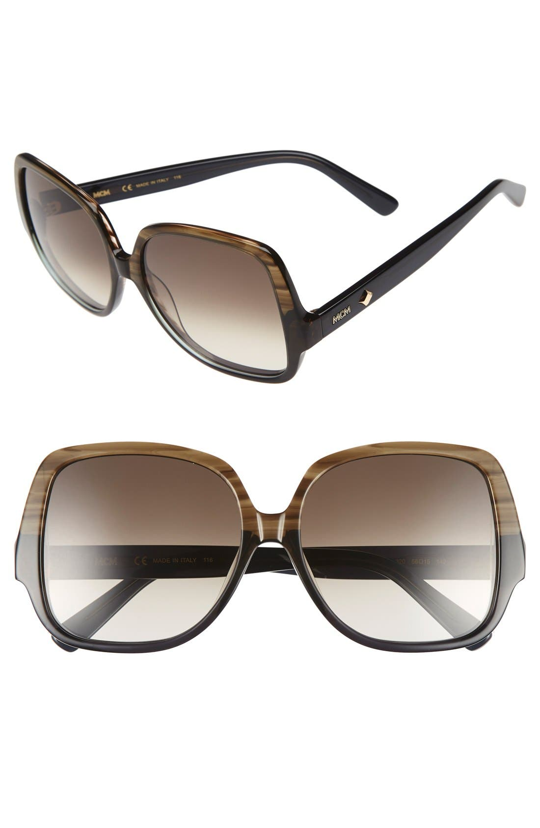 MCM 58mm Square Sunglasses