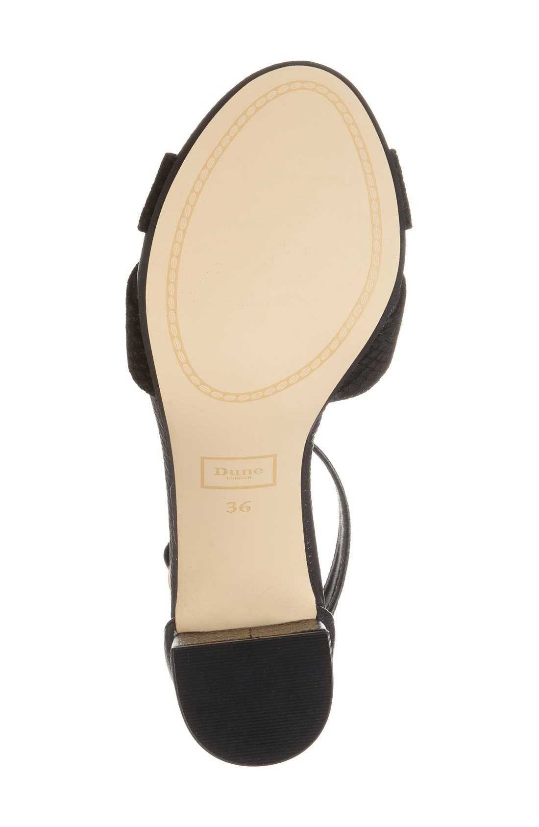 Alternate Image 4  - Dune London 'Imelda' Block Heel Ankle Strap Sandal (Women)