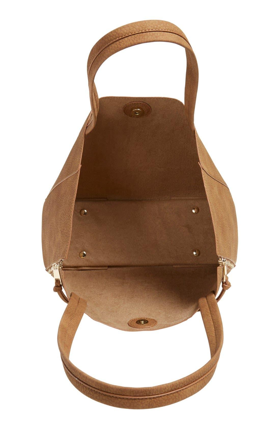 Alternate Image 4  - BP. Zip Detail Faux Leather Tote