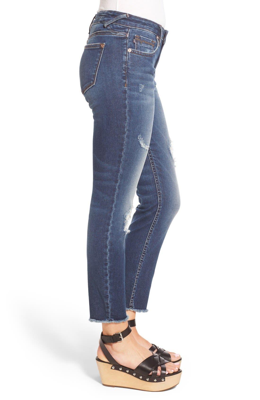 Alternate Image 3  - Vigoss Distressed Raw Hem Skinny Jeans