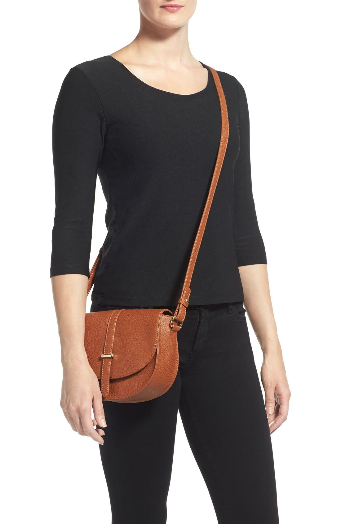 Alternate Image 2  - BP. Faux Leather Saddle Crossbody Bag
