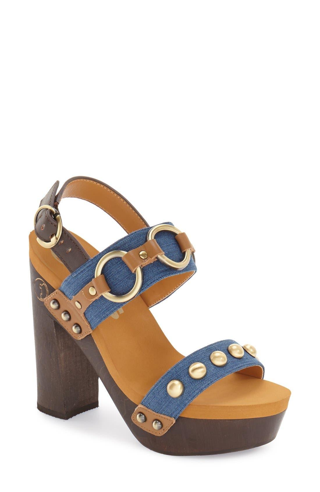 Main Image - Flogg 'Entrada' Stud Harness Platform Sandal (Women)