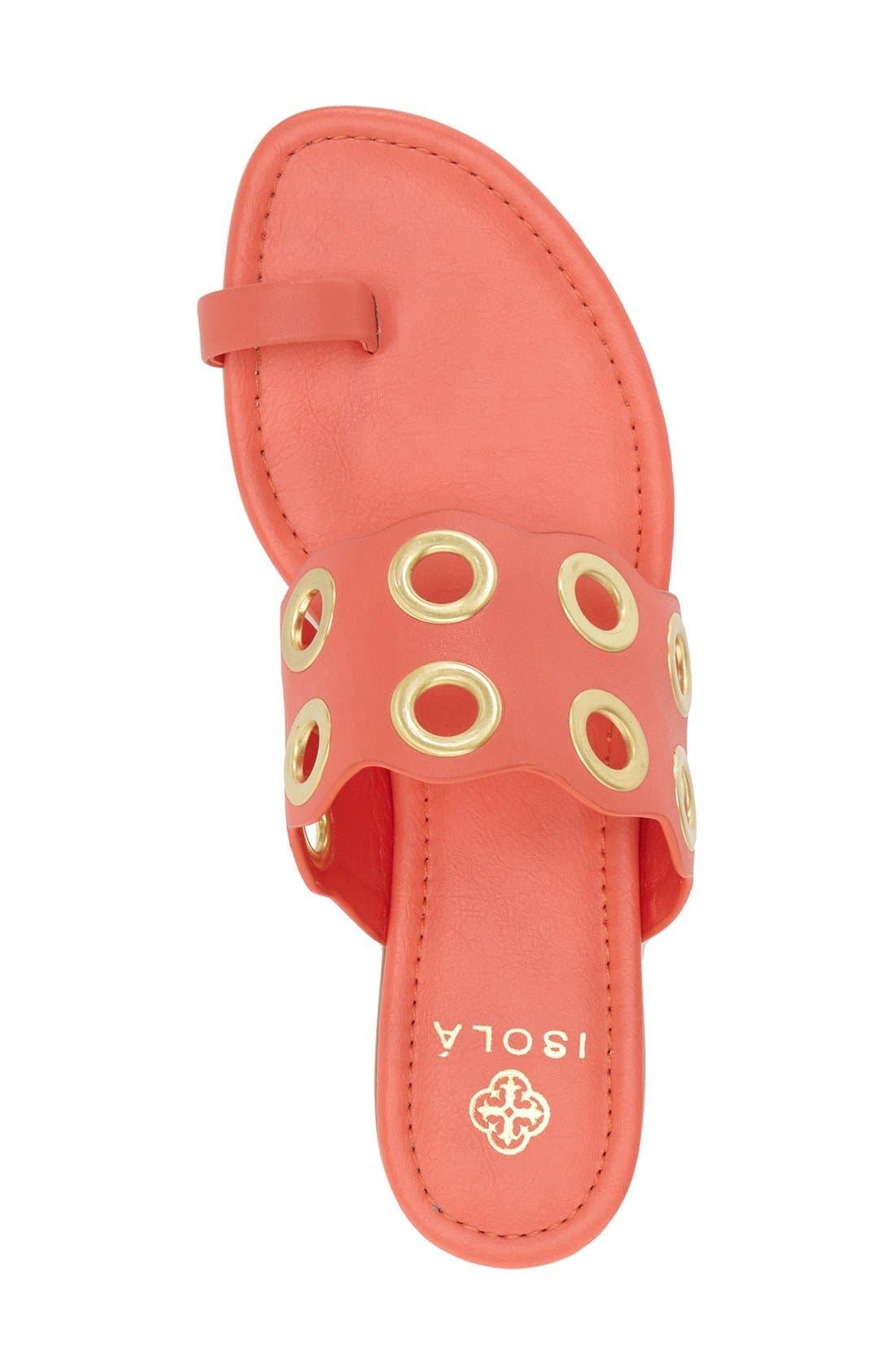 Alternate Image 3  - Isolá 'Milo' Grommet Flat Sandal (Women)