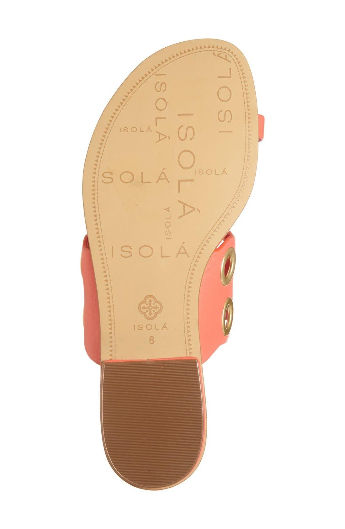 Alternate Image 4  - Isolá 'Milo' Grommet Flat Sandal (Women)