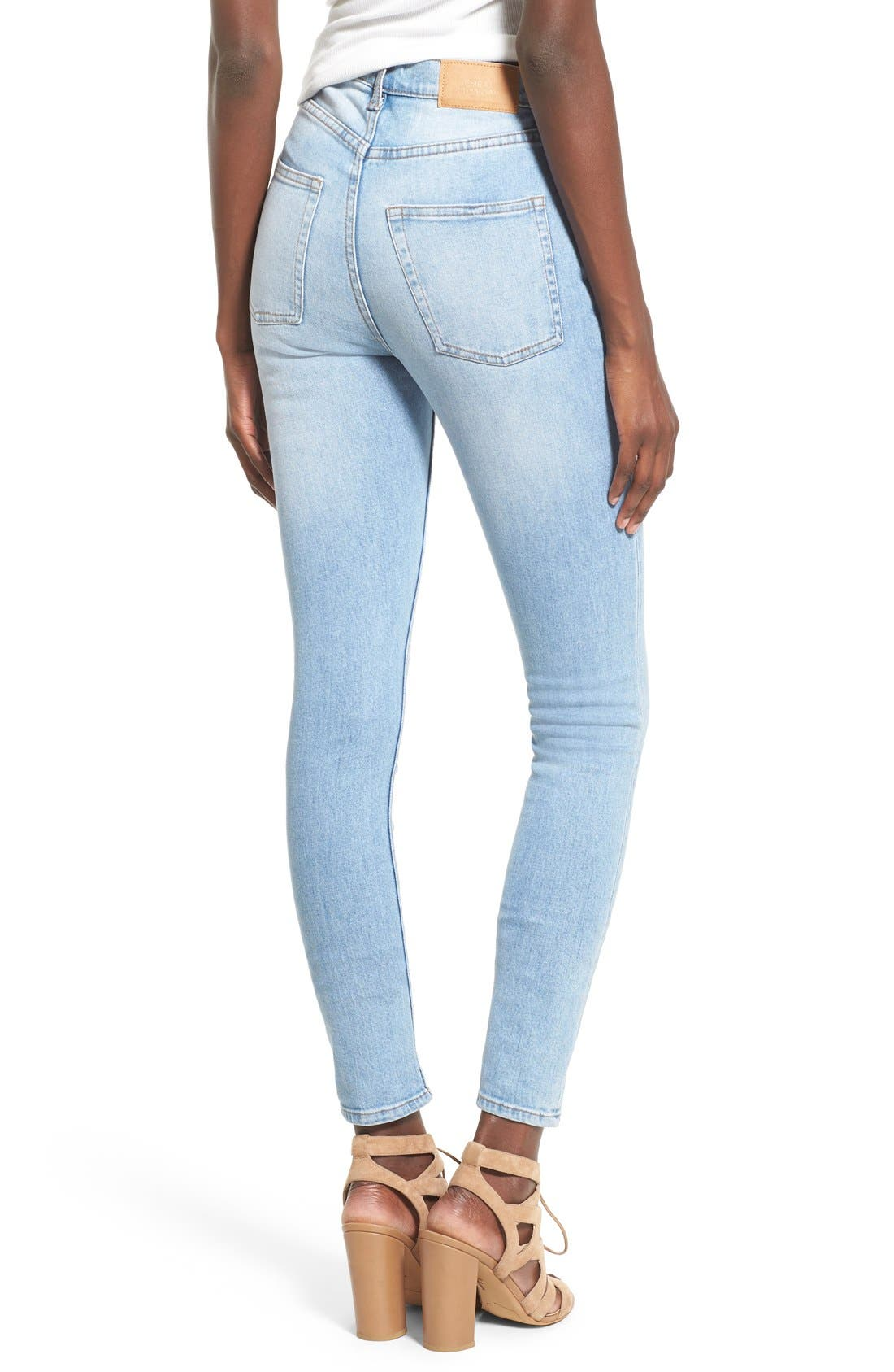Alternate Image 2  - Cheap Monday 'Second Skin' Skinny Jeans (Stonewash Blue)