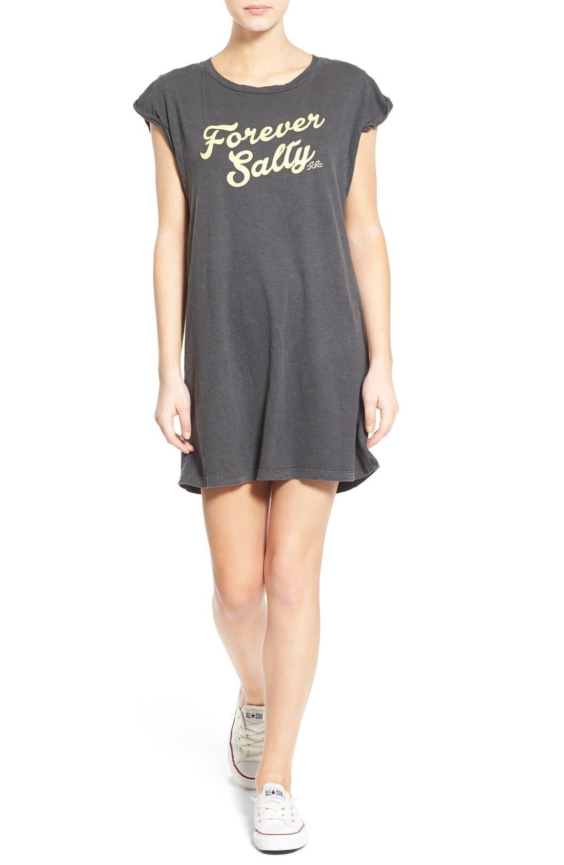 Alternate Image 1 Selected - Billabong 'Forever Salty' Graphic T-Shirt Dress