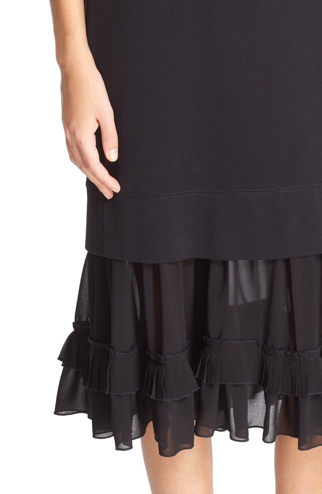Alternate Image 4  - MM6 Maison Margiela Chiffon Hem Sweatshirt Dress