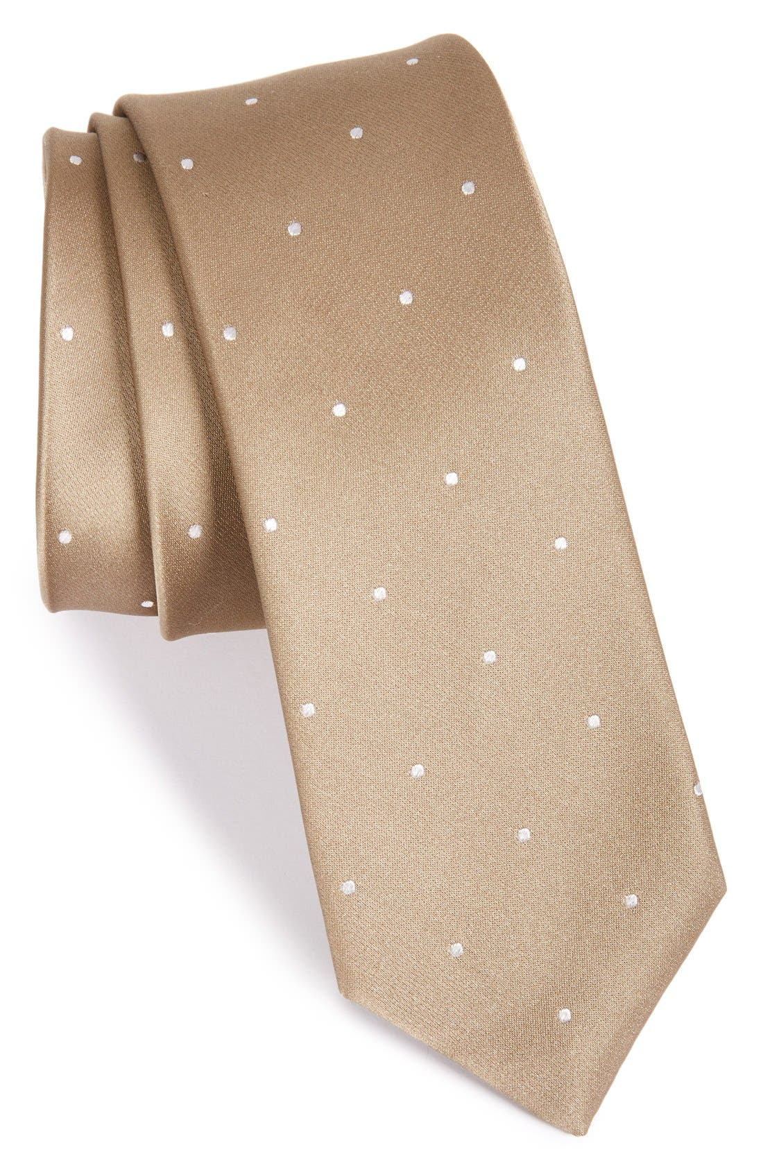 Alternate Image 1 Selected - The Tie Bar Dot Silk Tie