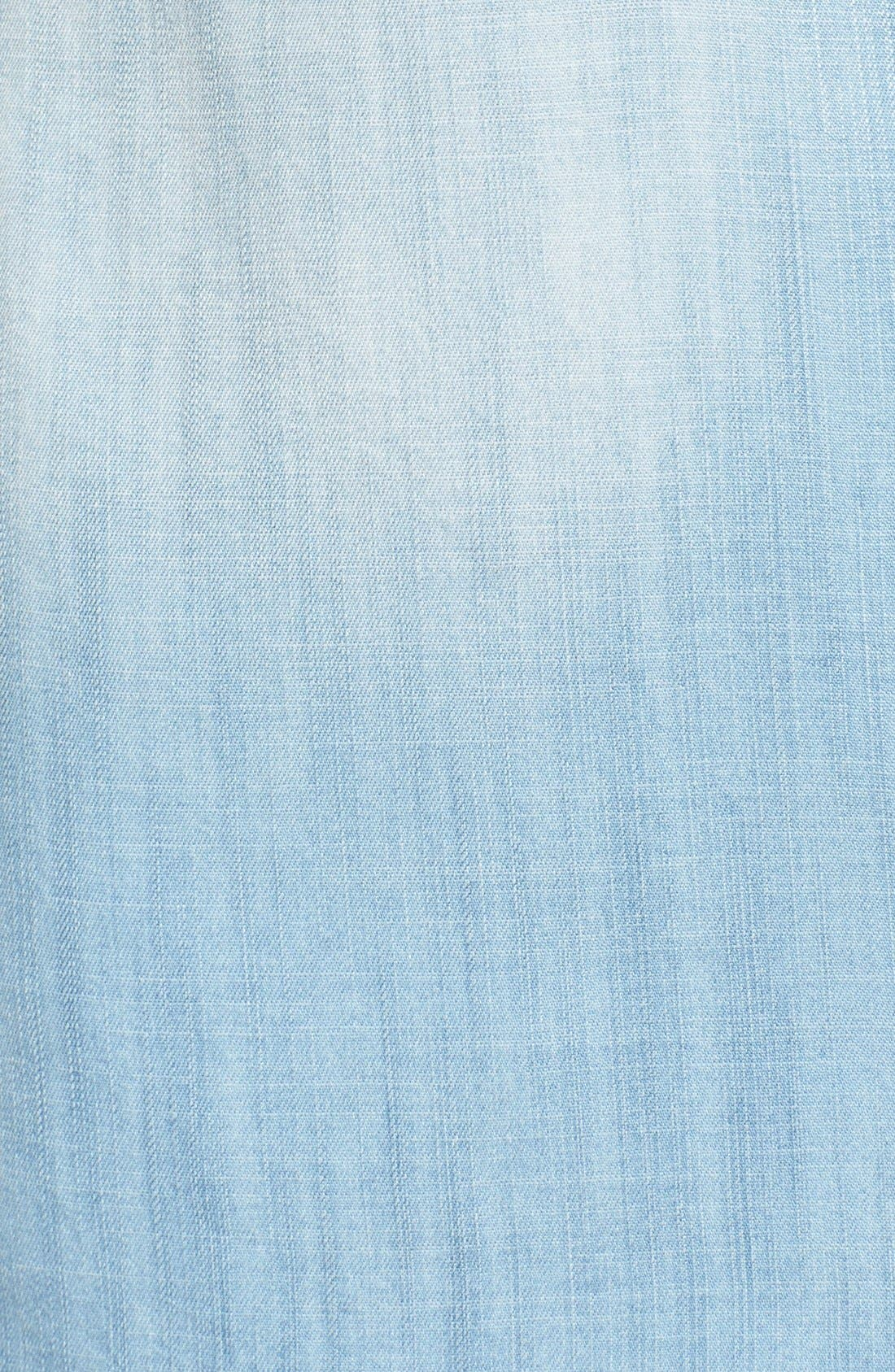 Alternate Image 5  - Mavi Jeans High/Low Lightweight Denim Shirt