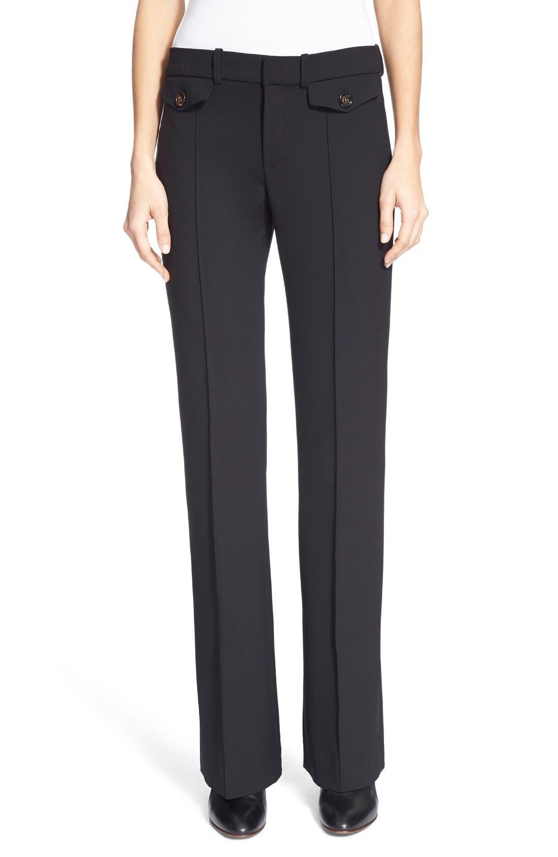 CHLOÉ Stretch Wool Bootcut Pants