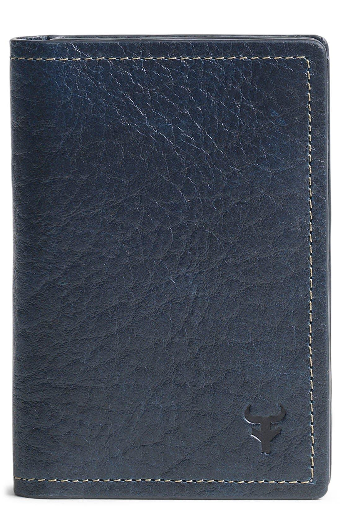 Trask 'Jackson' Gusset Pocket Bison Leather Card Case