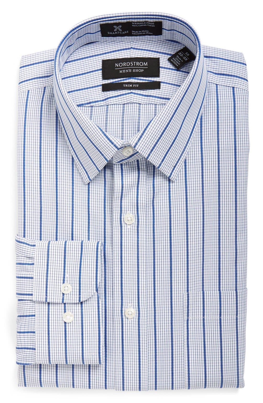 NORDSTROM MEN'S SHOP Smartcare™ Trim Fit Check Dress
