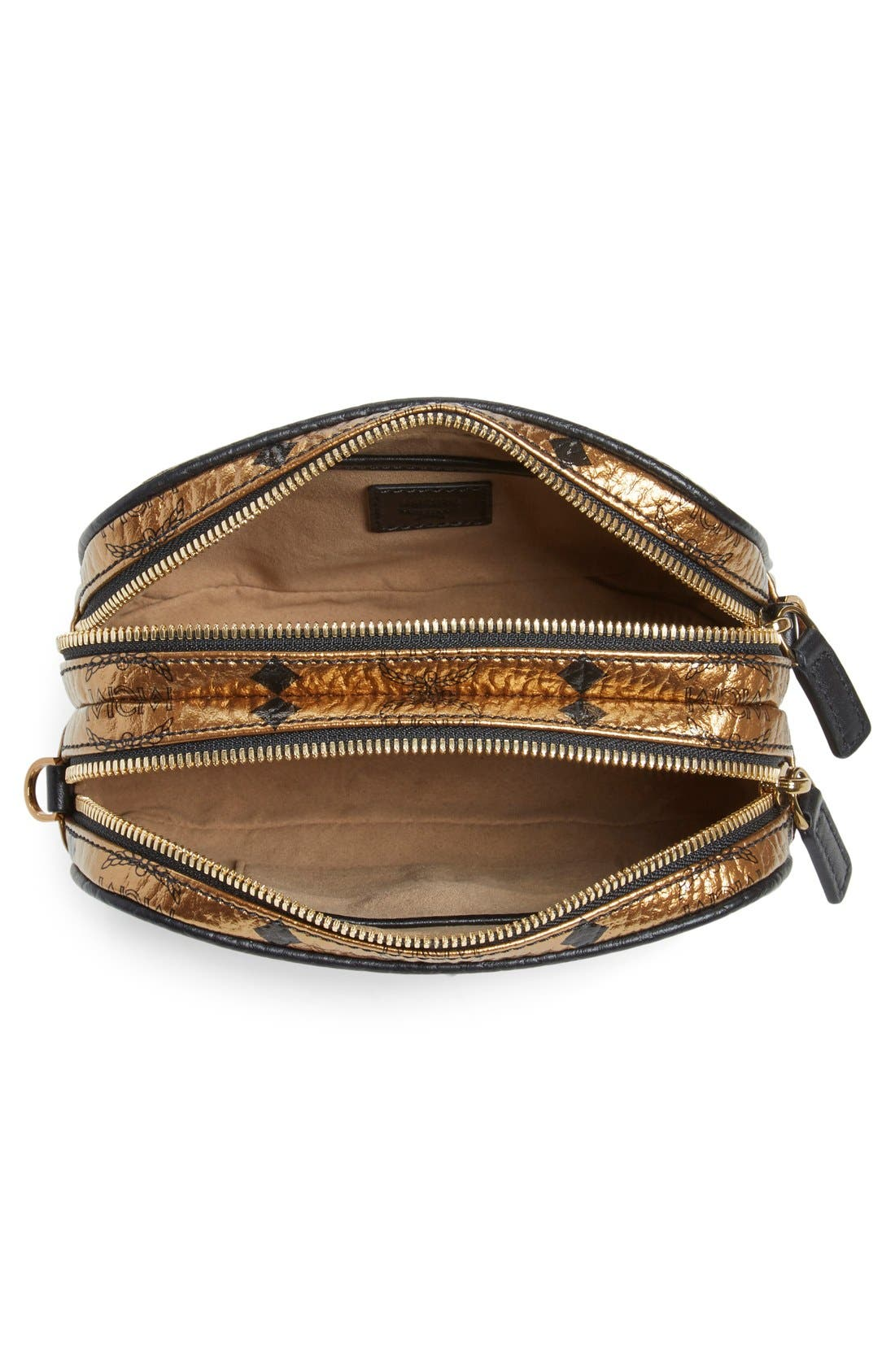 Alternate Image 4  - MCM 'Heritage - Visetos' Metallic Coated Canvas Crossbody Bag (Nordstrom Exclusive)