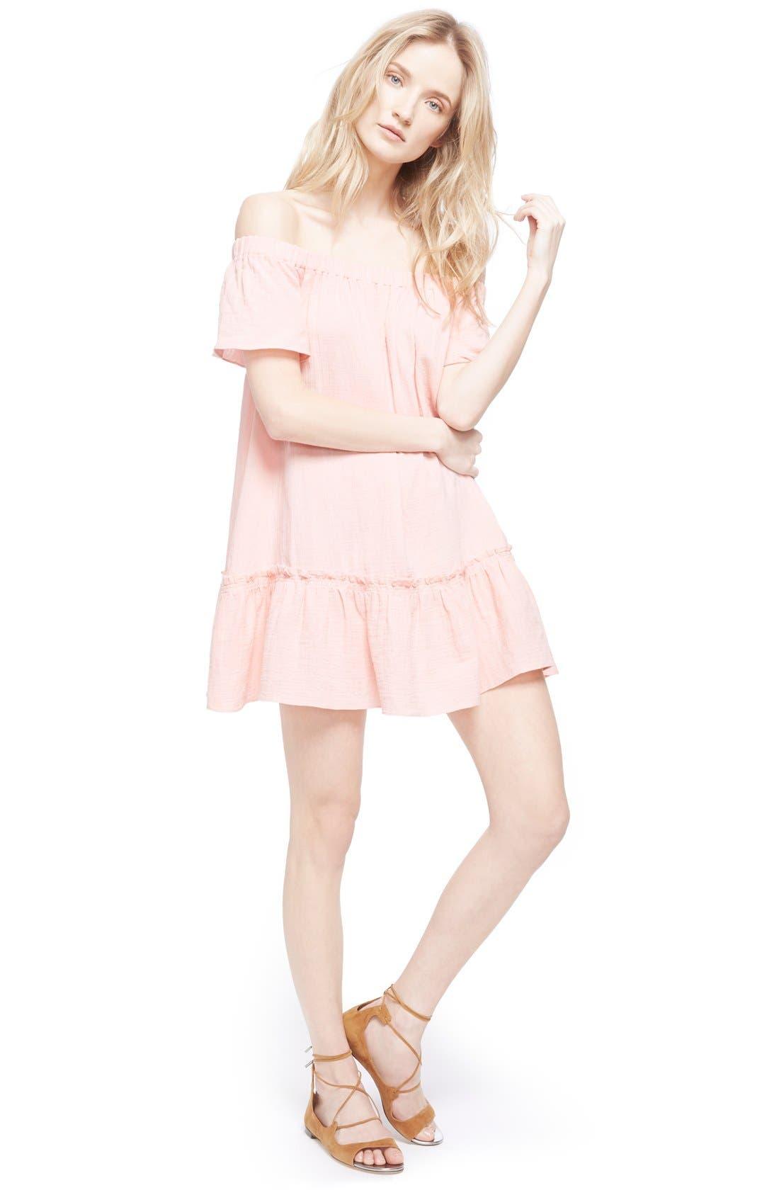 Alternate Image 6  - Rebecca Taylor Off the Shoulder Cotton Swing Dress