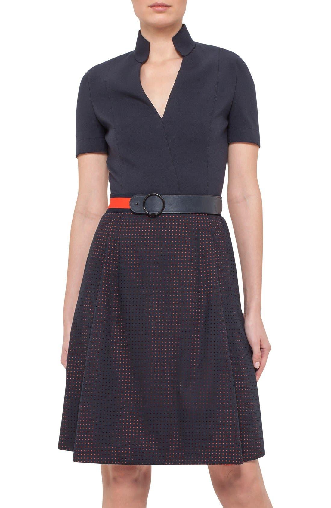 Alternate Image 1 Selected - Akris punto Perforated Shirt Dress