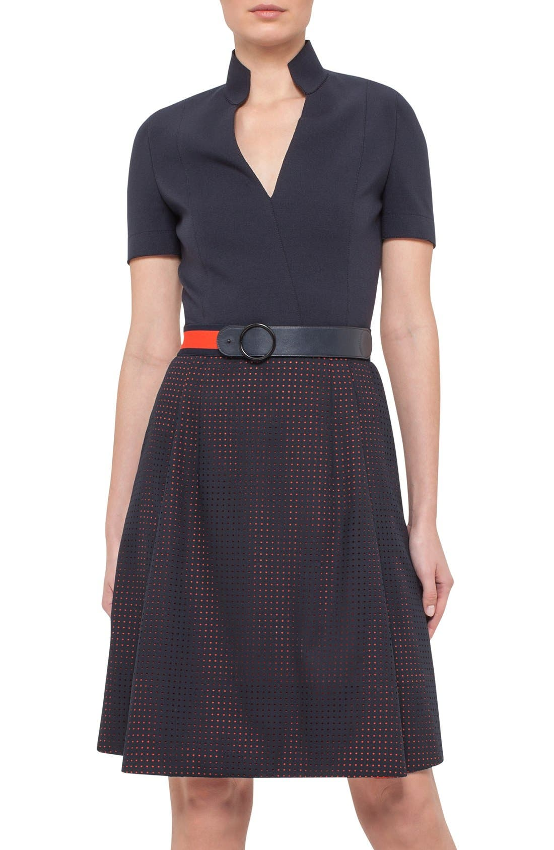 Main Image - Akris punto Perforated Shirt Dress