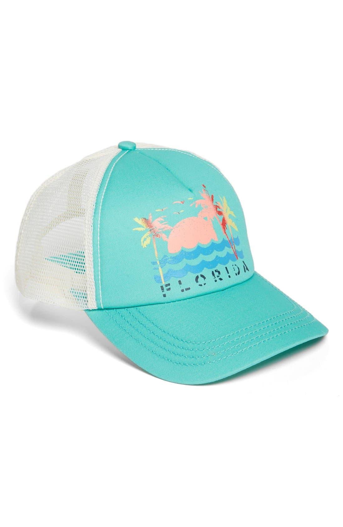 Alternate Image 1 Selected - Billabong 'Destination Vacay' Graphic Trucker Hat