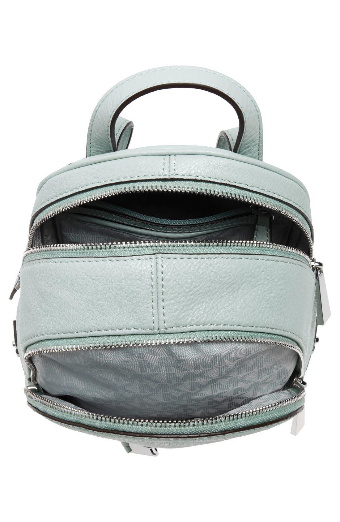 Alternate Image 4  - MICHAEL Michael Kors 'Extra Small Rhea' Leather Backpack