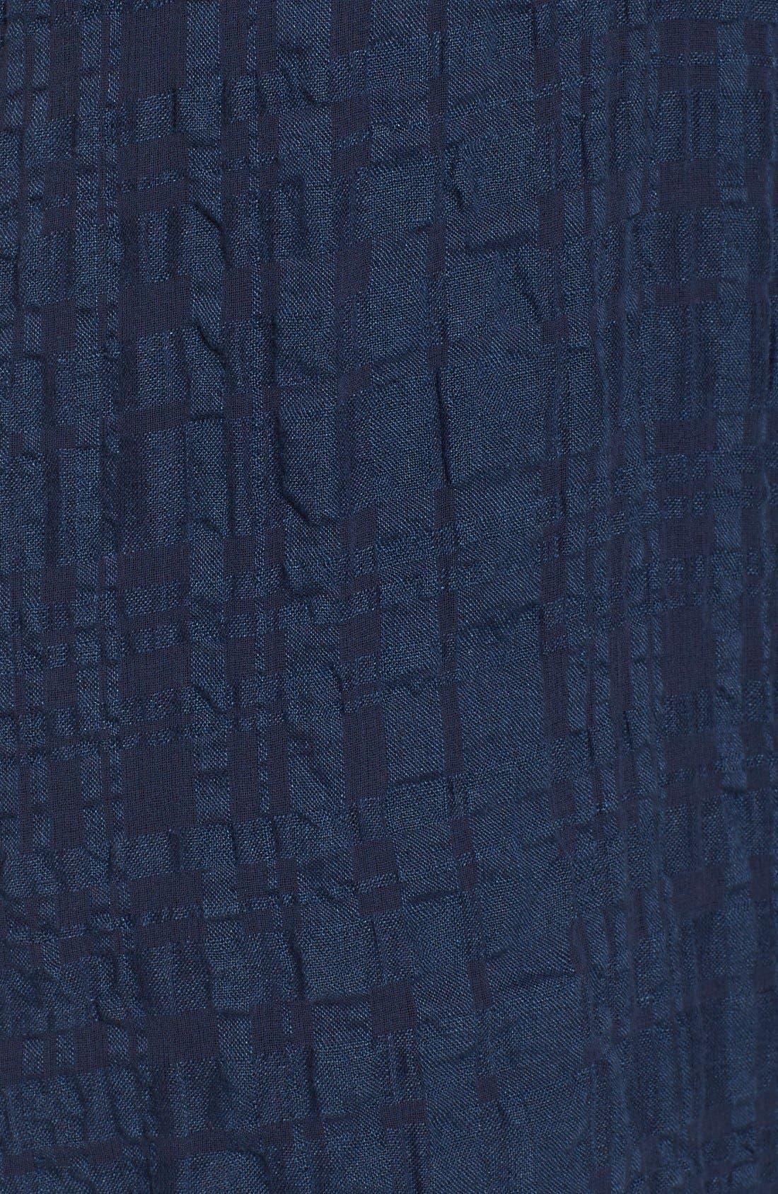 Alternate Image 5  - Eileen Fisher Button Front Boxy Dress (Regular & Petite)