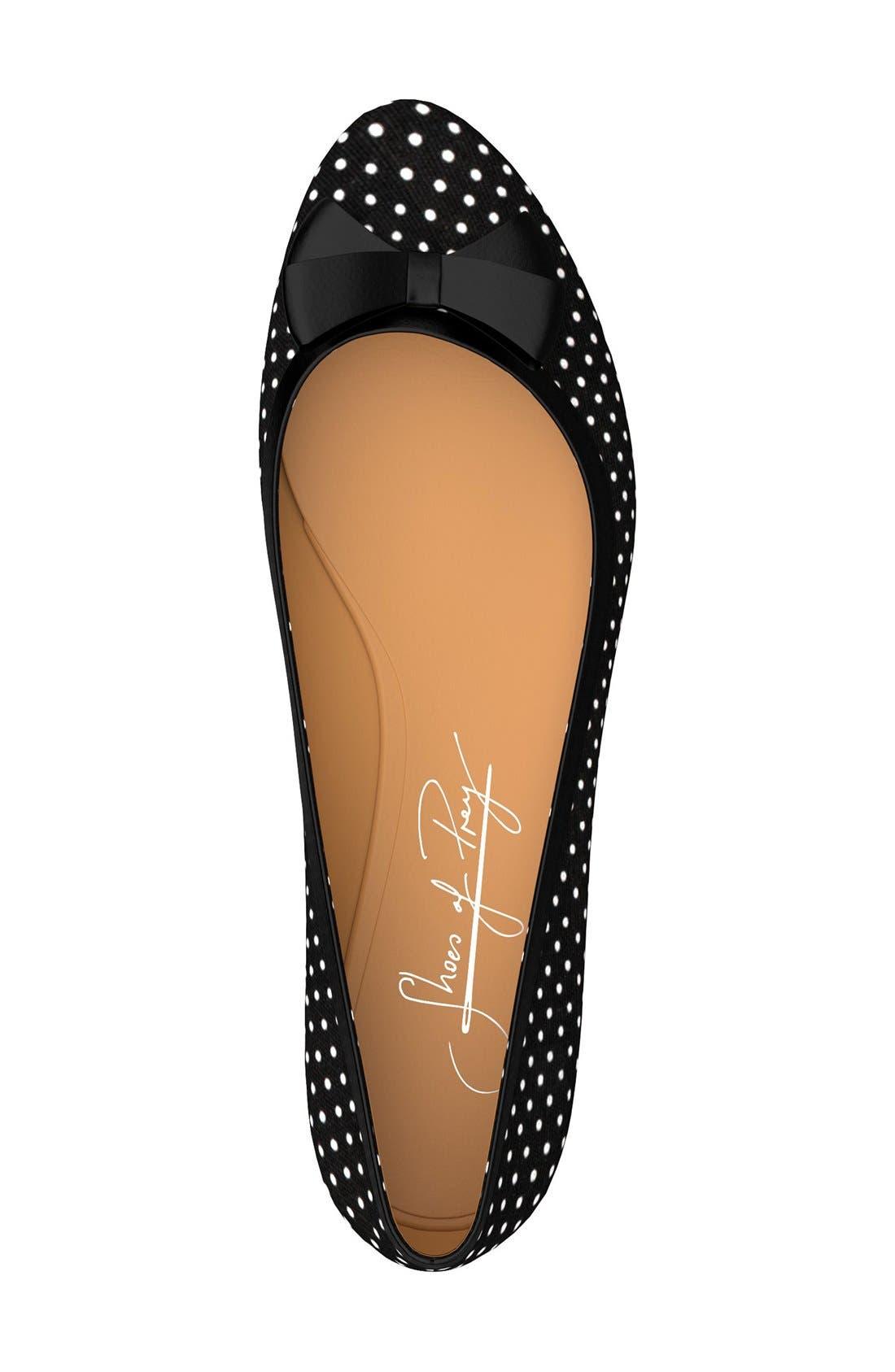 Alternate Image 4  - Shoes of Prey Polka Dot Ballet Flat (Women)