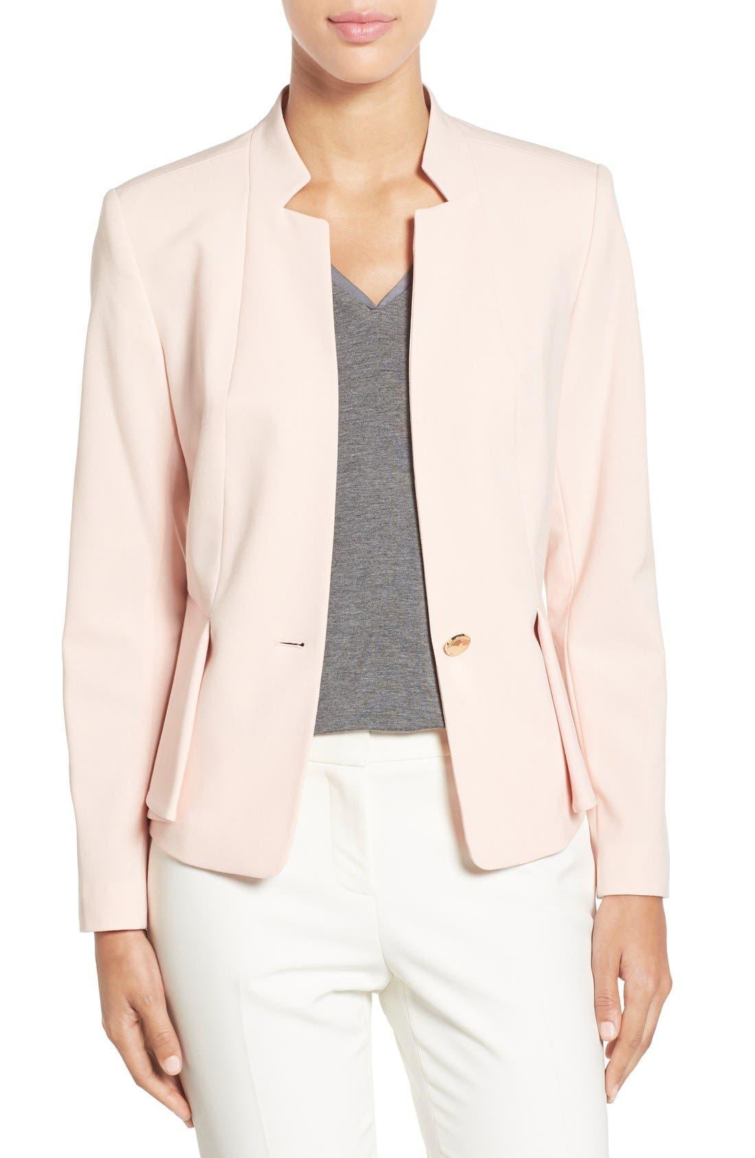 Alternate Image 1 Selected - Ivanka Trump Peplum Panel One-Button Jacket