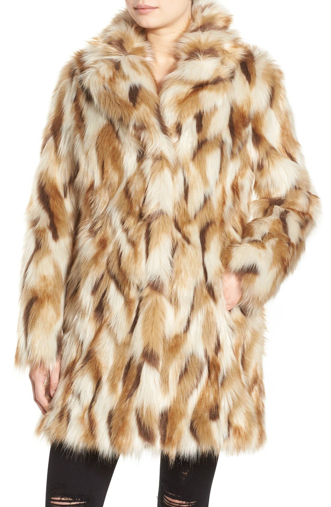 Alternate Image 4  - 7 for All Mankind Faux Fur Coat